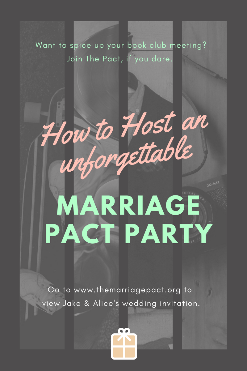 how to host a great book club party for the marriage pact the caffeinated writer. Black Bedroom Furniture Sets. Home Design Ideas