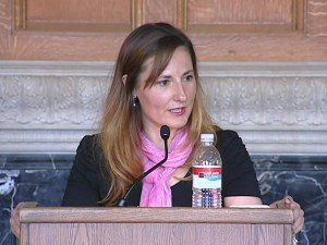 Michelle Richmond speaking at UC Berkeley