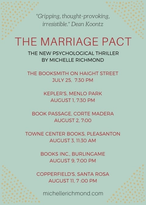 Michelle Richmond book tour